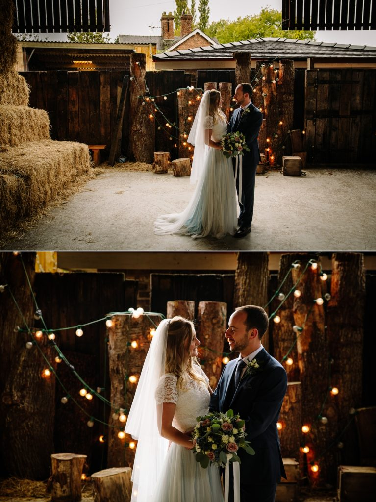 Bride and Groom Owen House Wedding Barn
