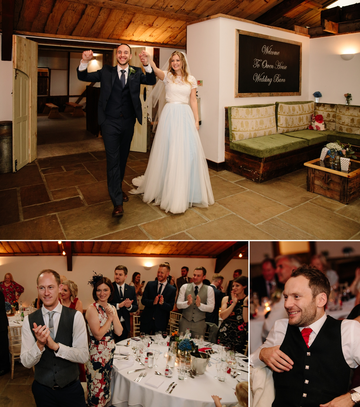 Bride and Groom announced into the wedding breakfast