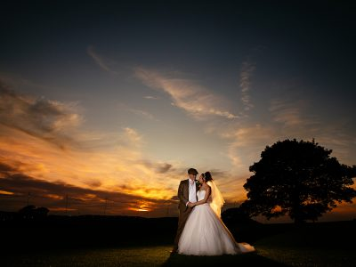 weddings with sunset