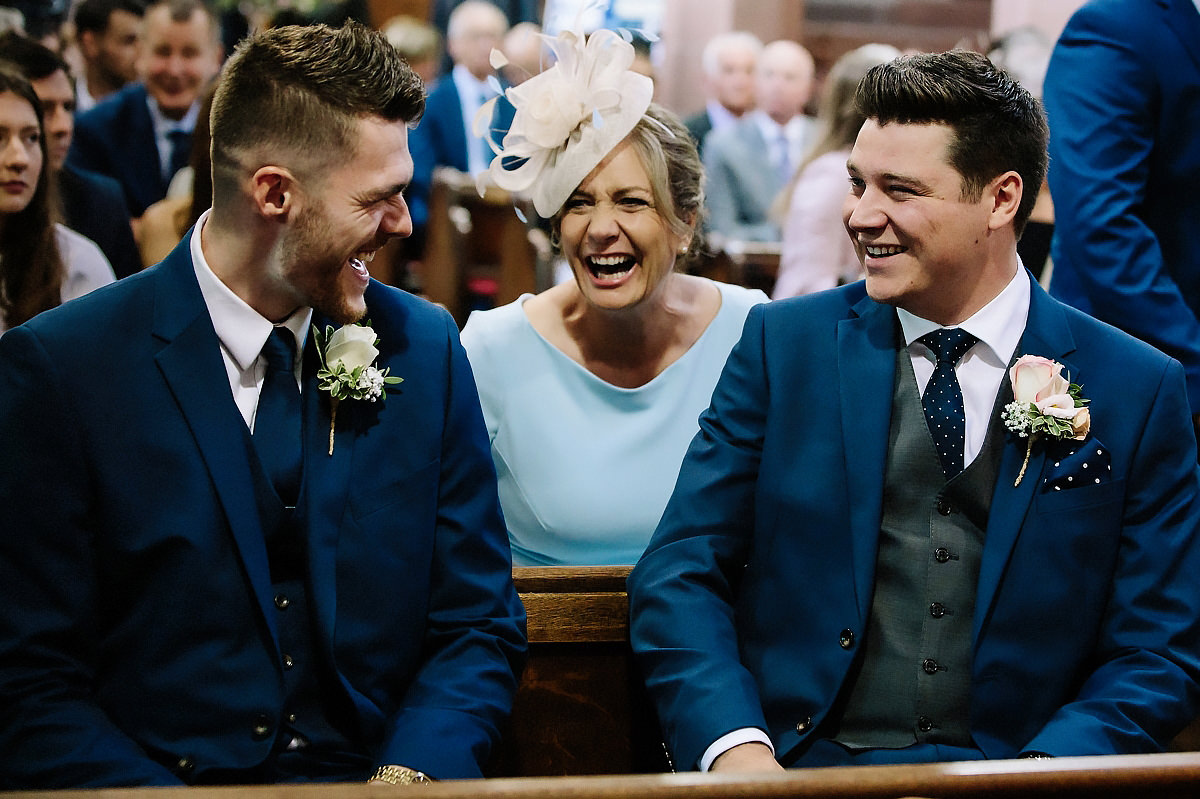 Mother of the Groom in church Cheshire