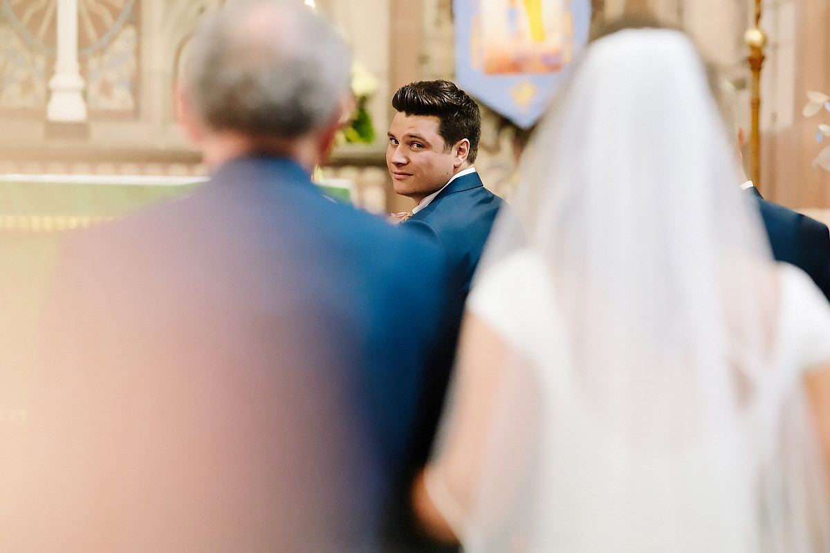 Groom seeing Bride Cheshire