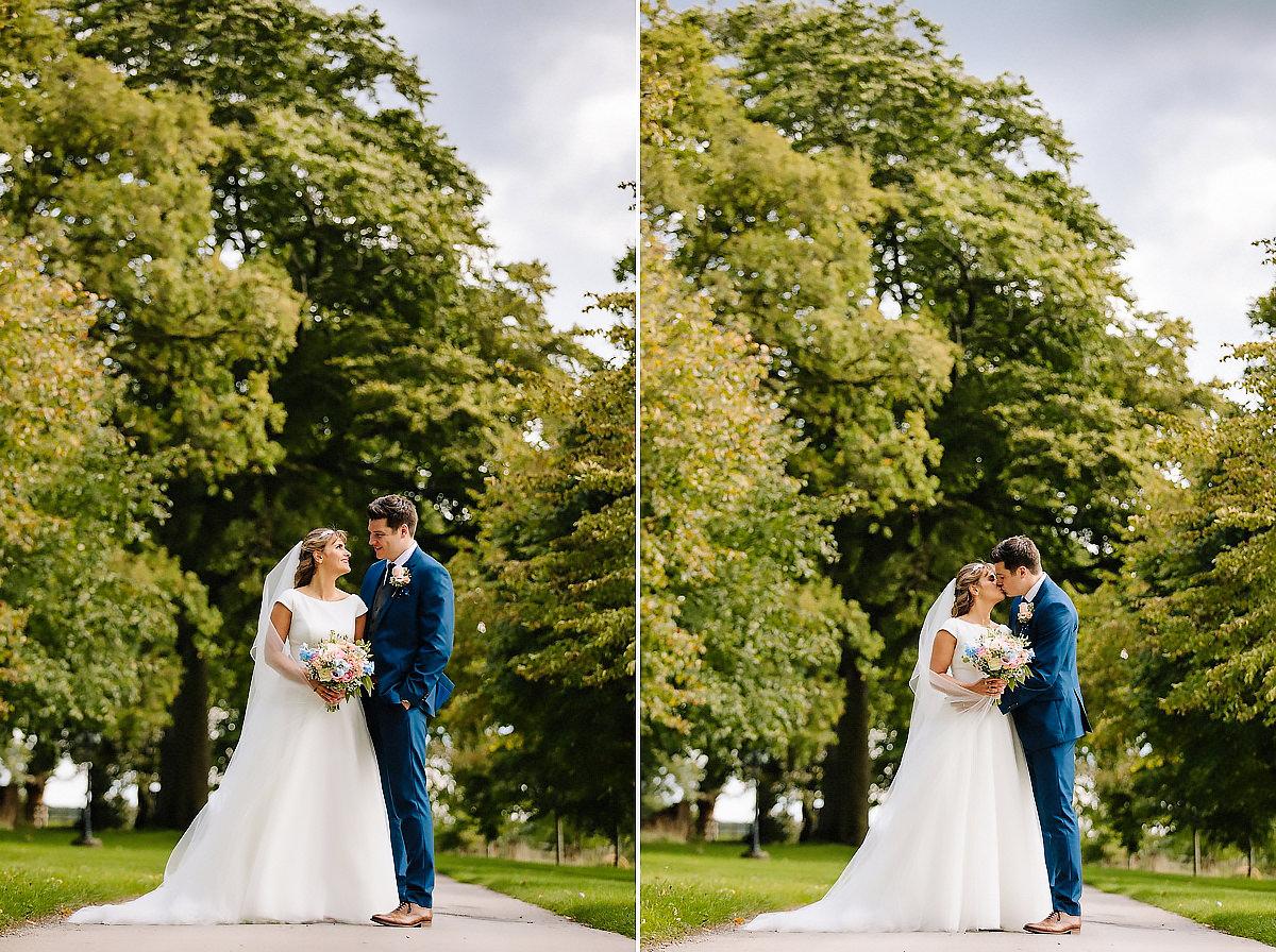Bride and Groom Willington Hall