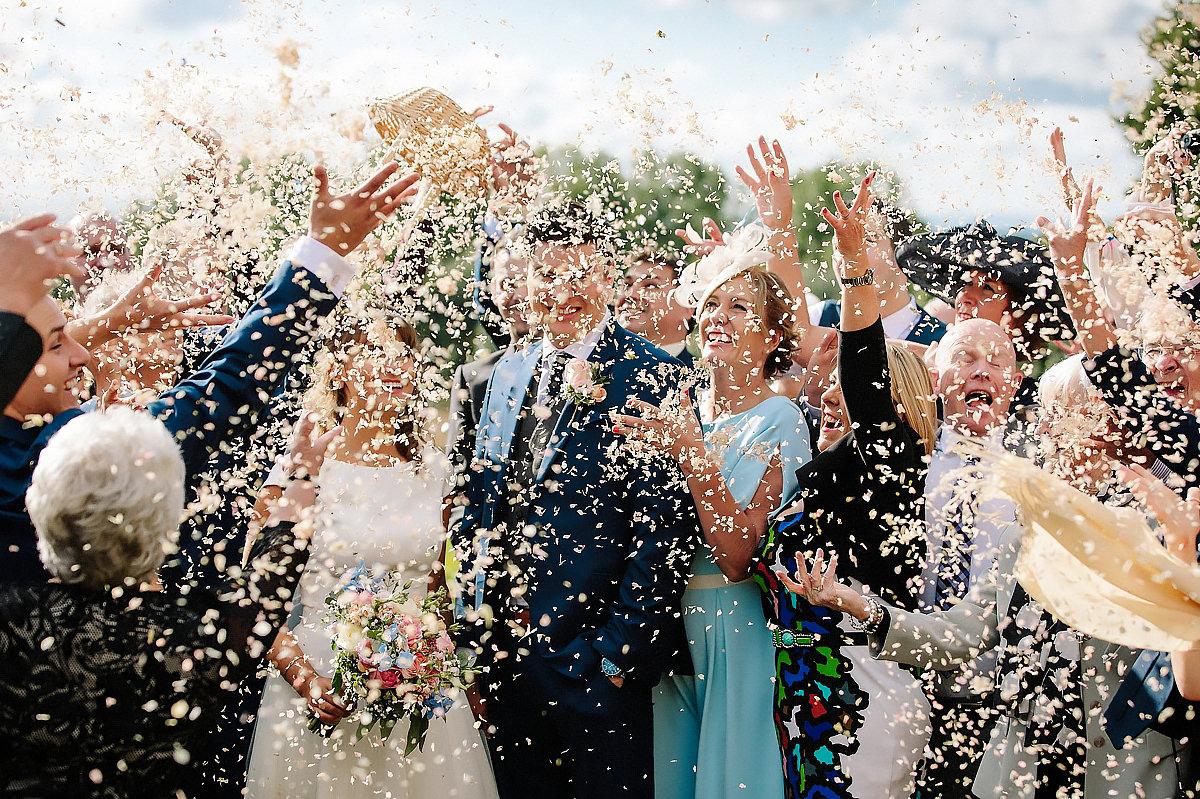 Confetti wedding Cheshire