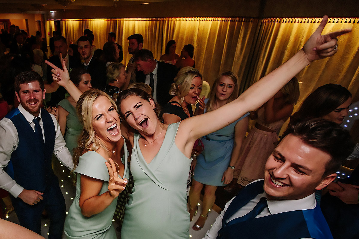 Willington Hall wedding party