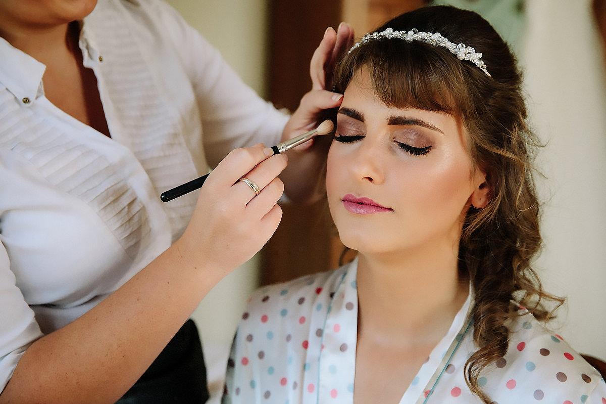 Bride makeup Willington Hall photography