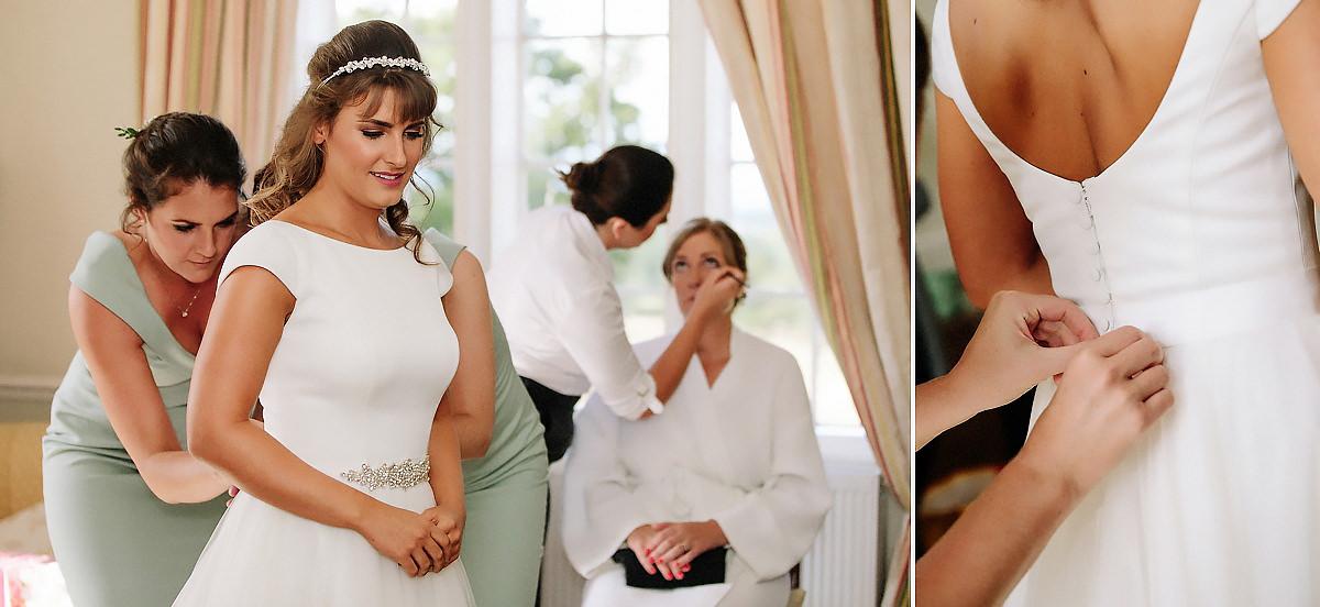 Bride getting ready Willington Hall