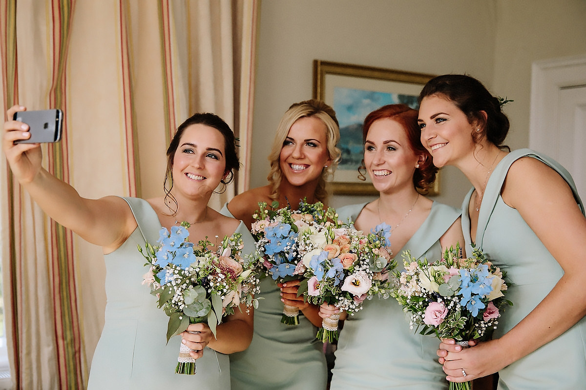 Bridesmaids selfie Willington Hall