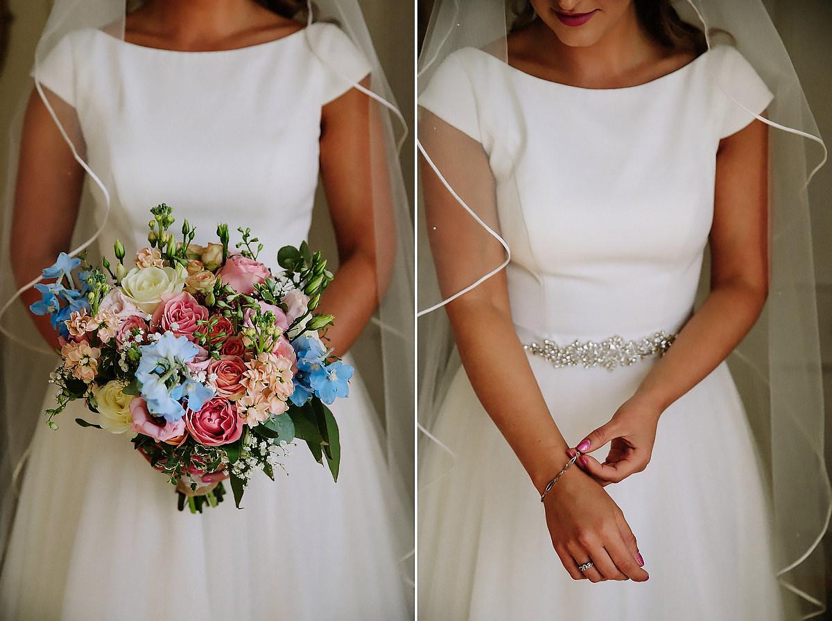 Bride and bouquet Willington Hall