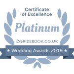 Bridebook Certificate of Excellence Award