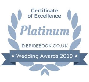 Bridebook Certificate of Excellence Award