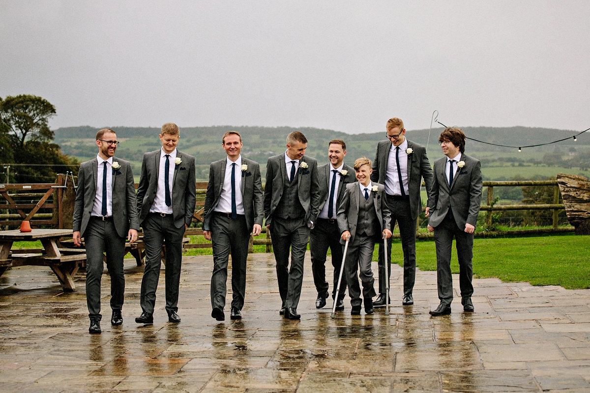 Groomsmen at Heaton House Farm