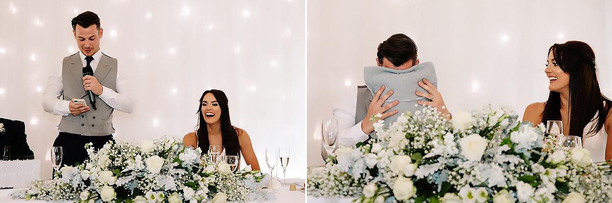 Wedding speeches Colshaw Hall