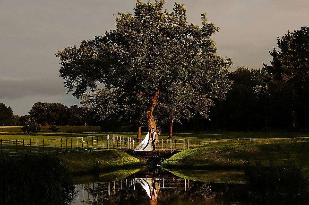 Colshaw Hall lake reflection