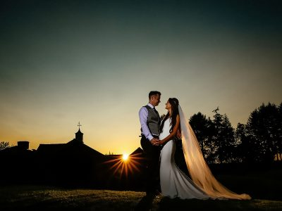 Colshaw Hall Wedding Sunset