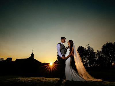 Colshaw Hall Wedding Sunset