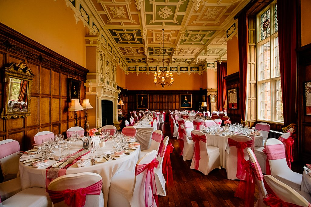 The Gallery room for your wedding Breakfast at Arley Hall