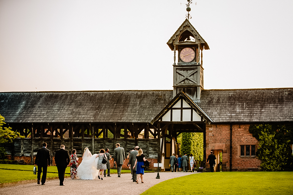 Guests make their way to the Olympia at Arley Hall