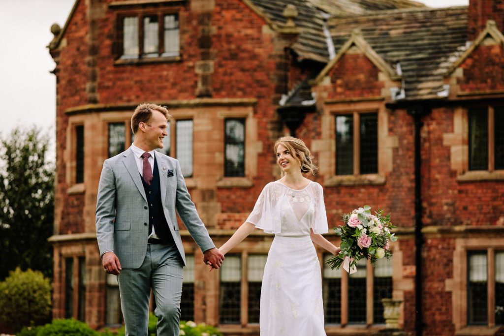 Colshaw Hall wedding photographer with the bride and groom