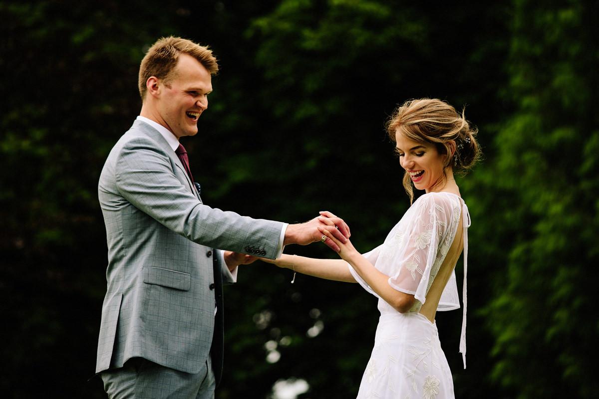 Colshaw Hall playful wedding photography
