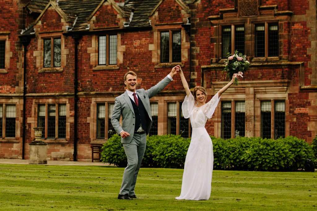 Colshaw Hall wedding excitement with the Bride and Groom