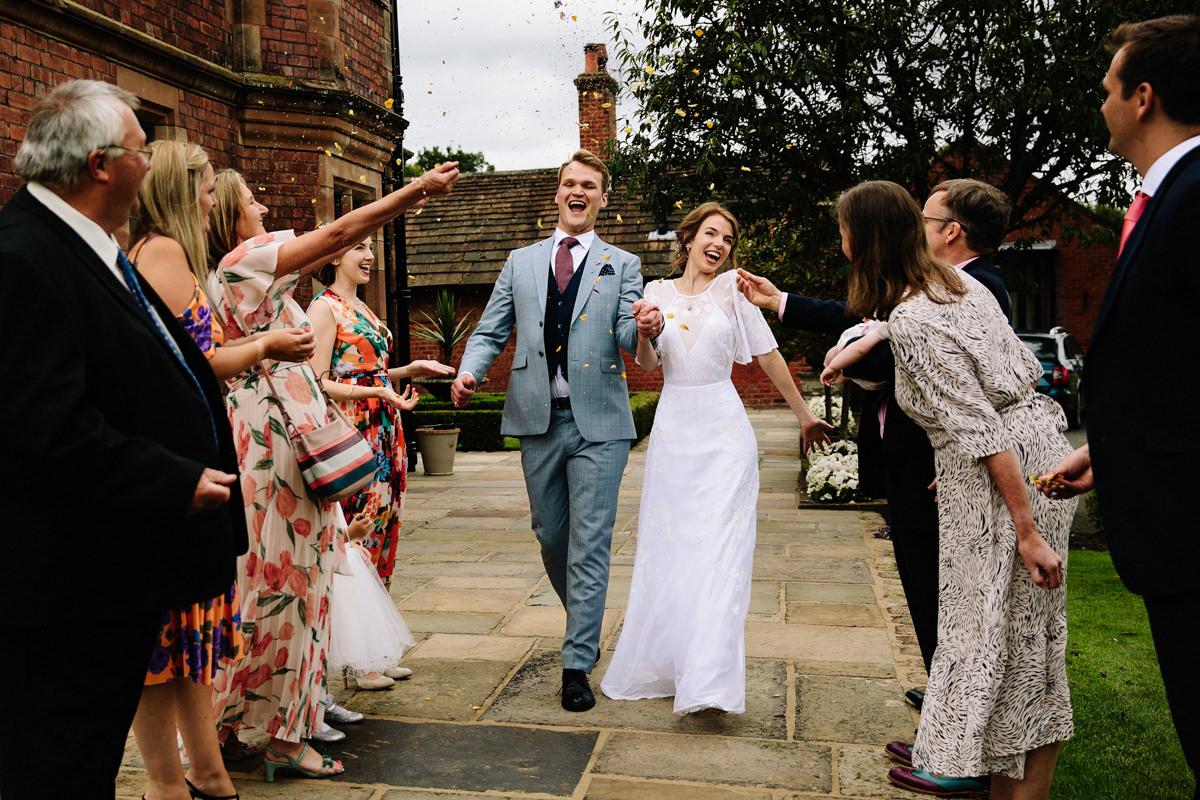 Confetti at Colshaw Hall wedding Photography
