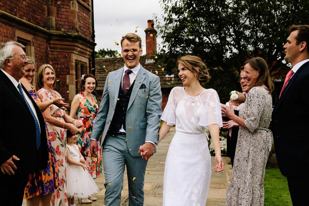 Colshaw Hall wedding confetti