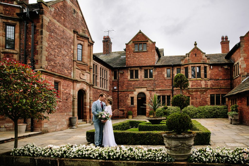 Colshaw Hall courtyard wedding photography