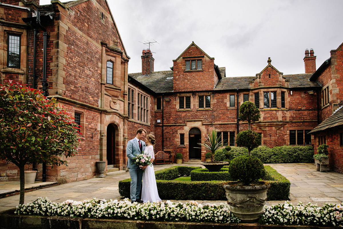 Colshaw Hall courtyard wedding photography