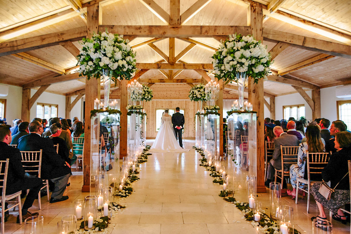 Wedding Ceremony in the Stables at Colshaw Hall