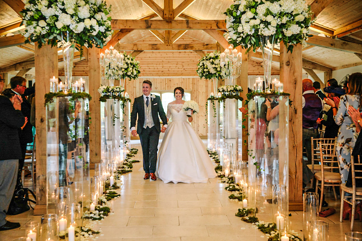 Bride and groom just married at Colshaw Hall