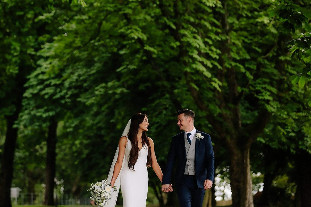 Bride and Groom photographed at Cheshire wedding
