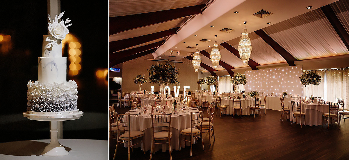 The Peel suite and wedding cake