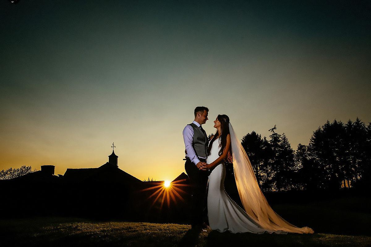 Sunset wedding photographer Cheshire