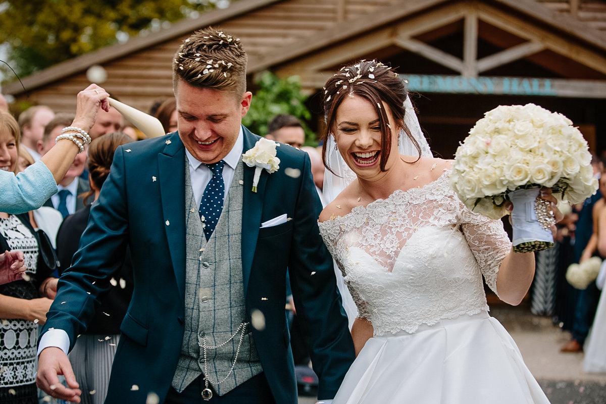 confetti Cheshire wedding Photographer
