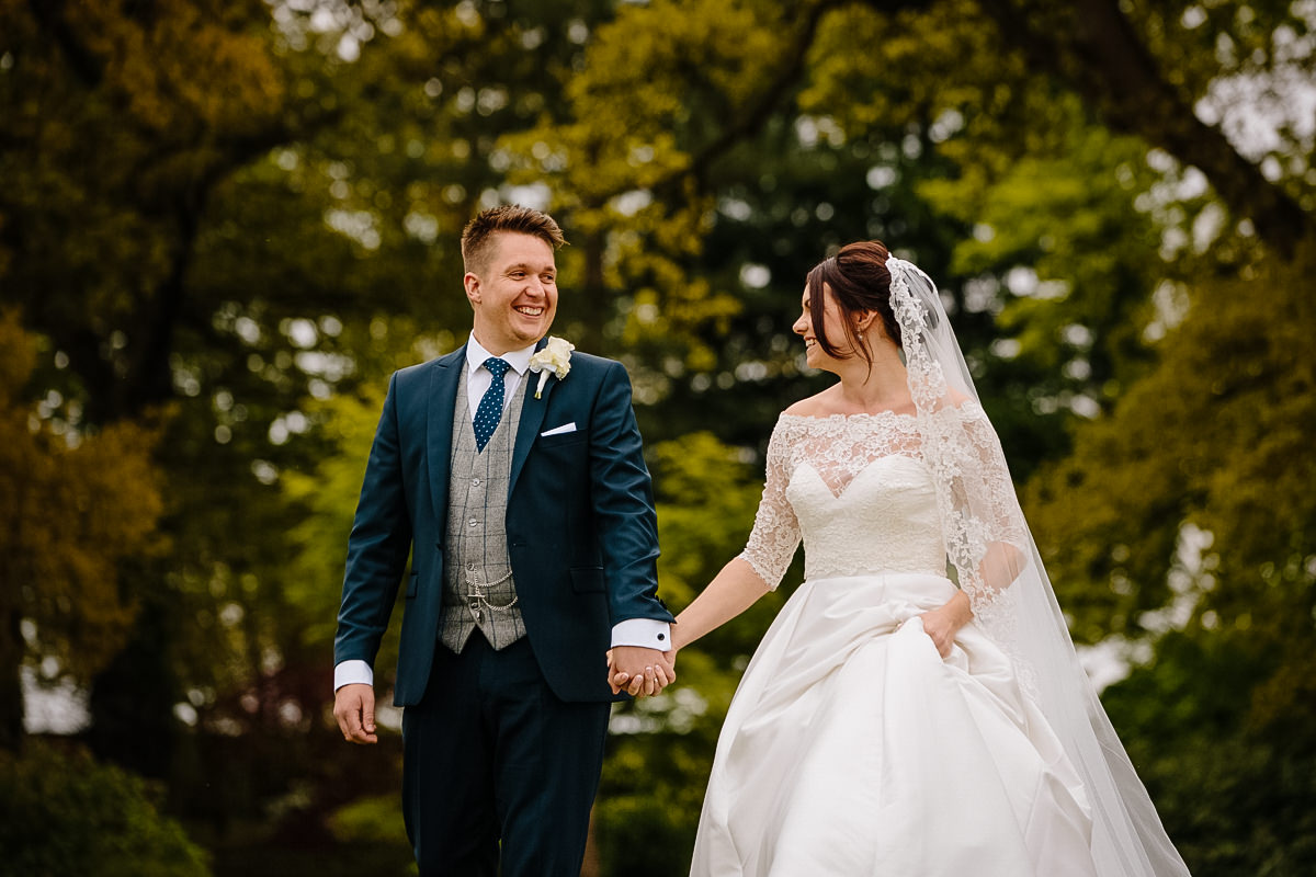 Bride and Groom wedding photography at Colshaw Hall