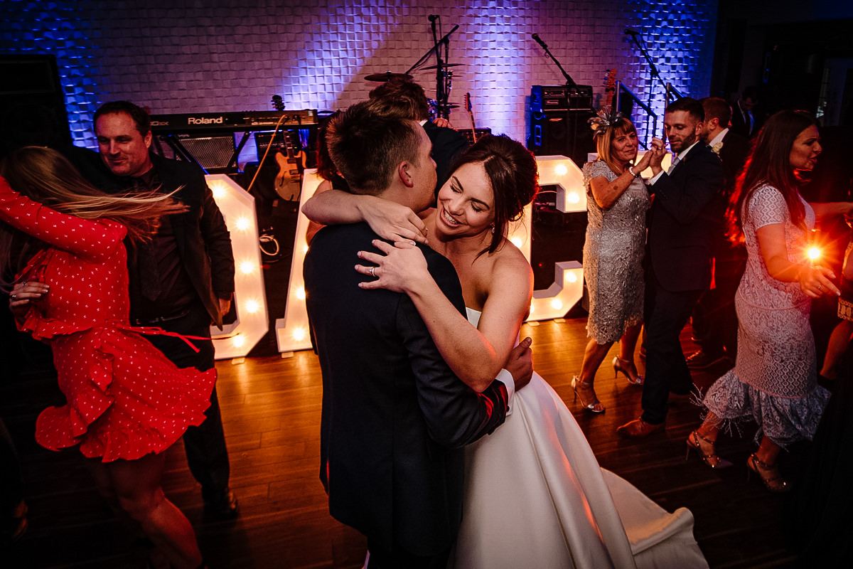 First dance for the bride and groom at Colshaw Hall