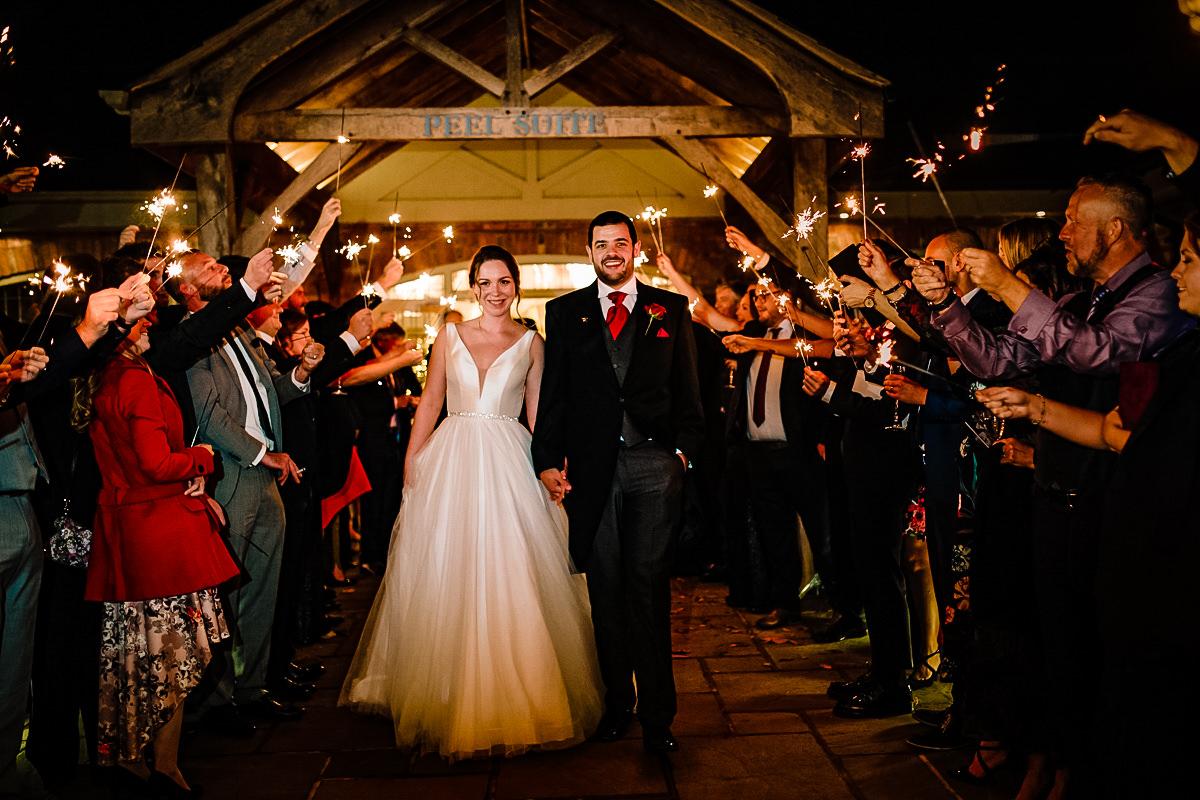 Wedding Sparklers at Colshaw Hall