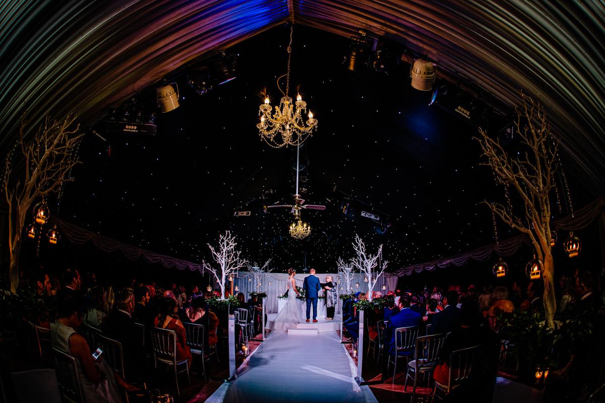 Ceremony under the stars at Heaton House Farm