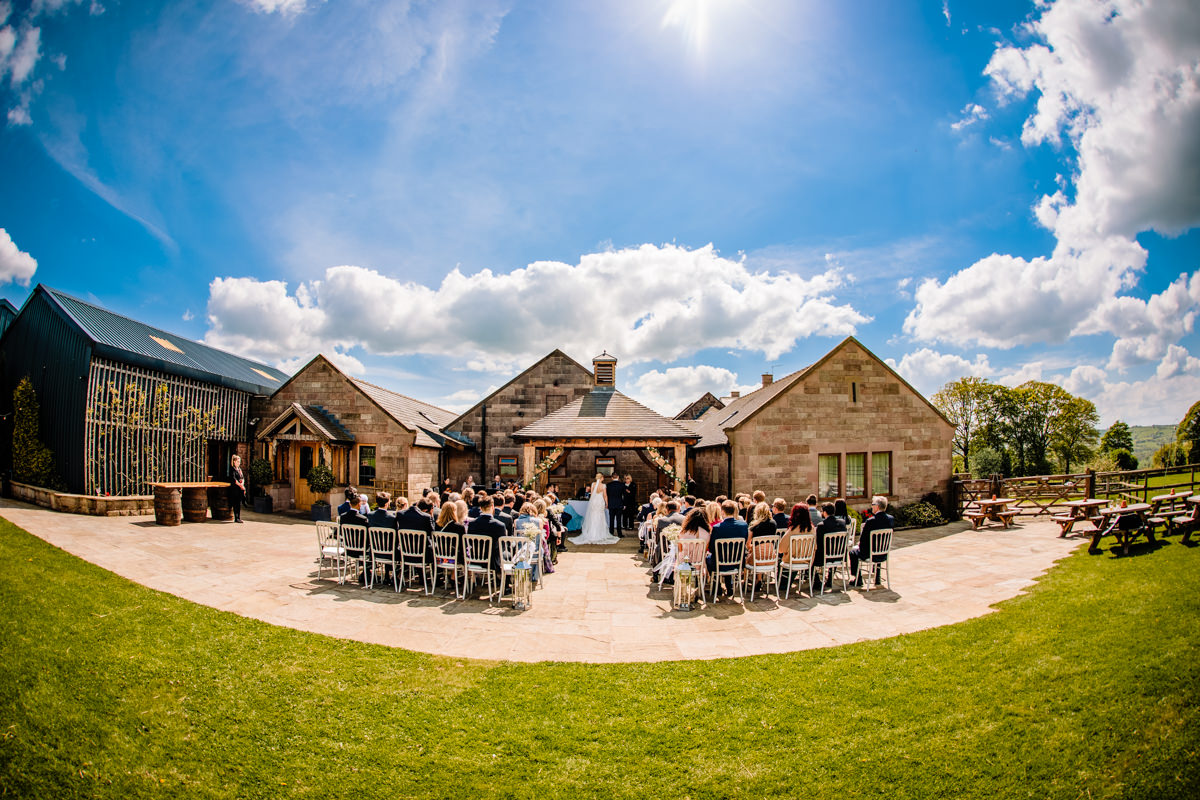 Outdoor ceremonies at Heaton House Farm