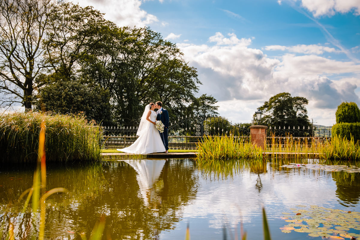 Heaton House Farm secret garden and lake