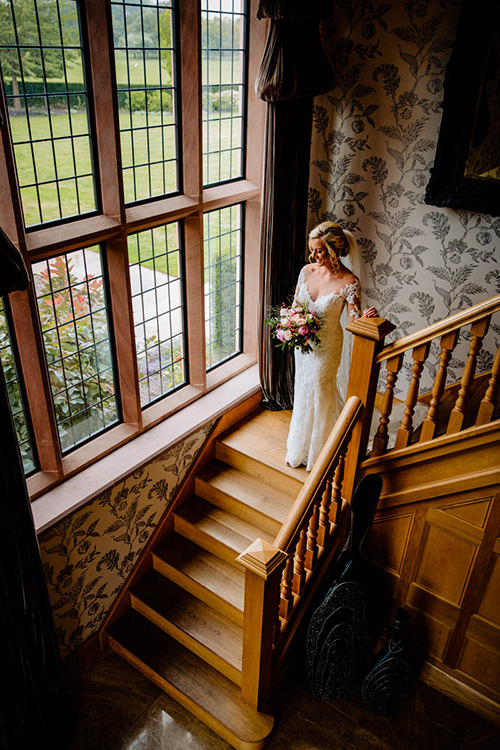 The stunning staircase at Merrydale Manor