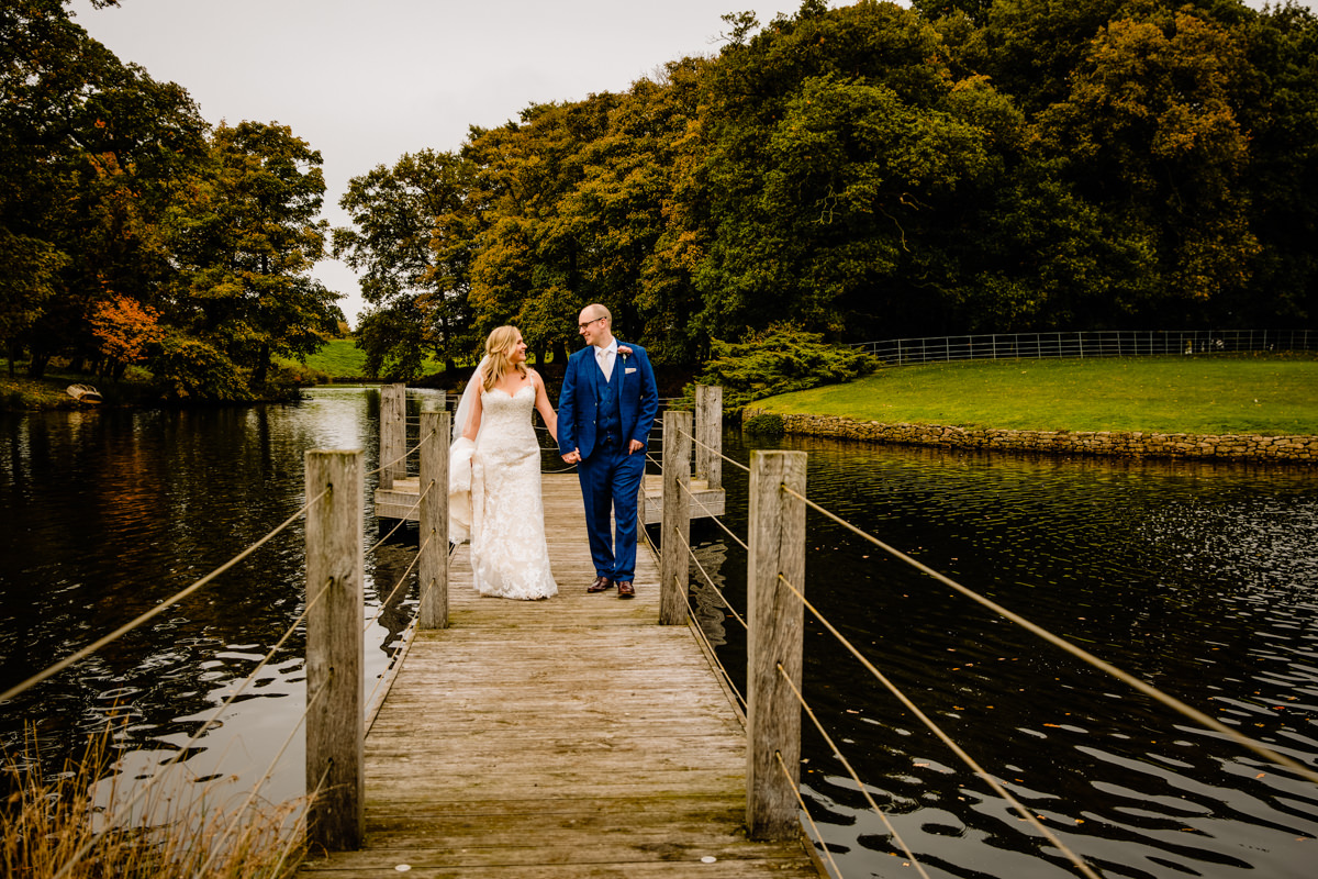The jetty on the lake at Merrydale Manor wedding