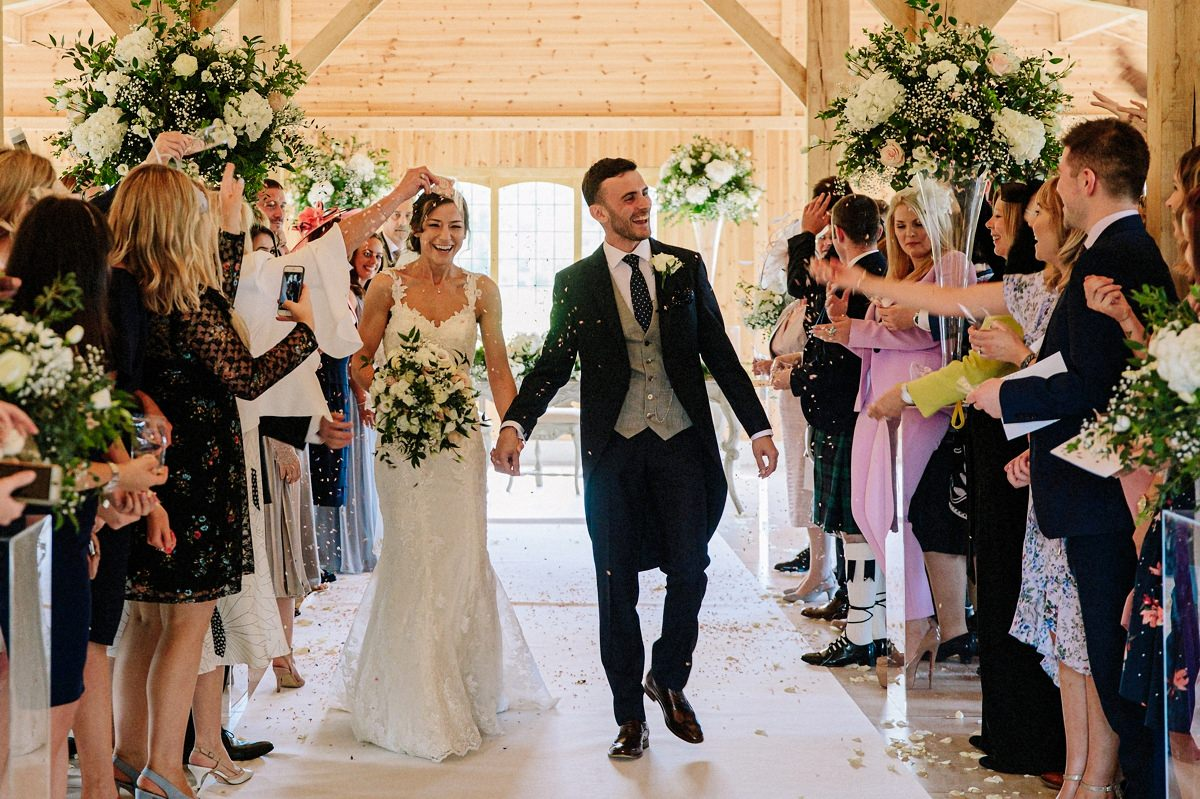 Walking down the aisle as a newlywed