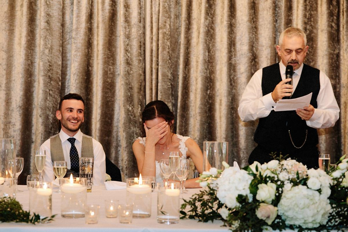 Wedding speeches at Merrydale Manor