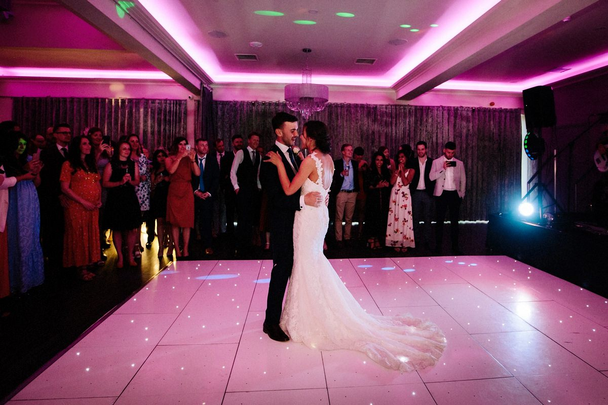 Bride and grooms first dance together at Merrydale Manor