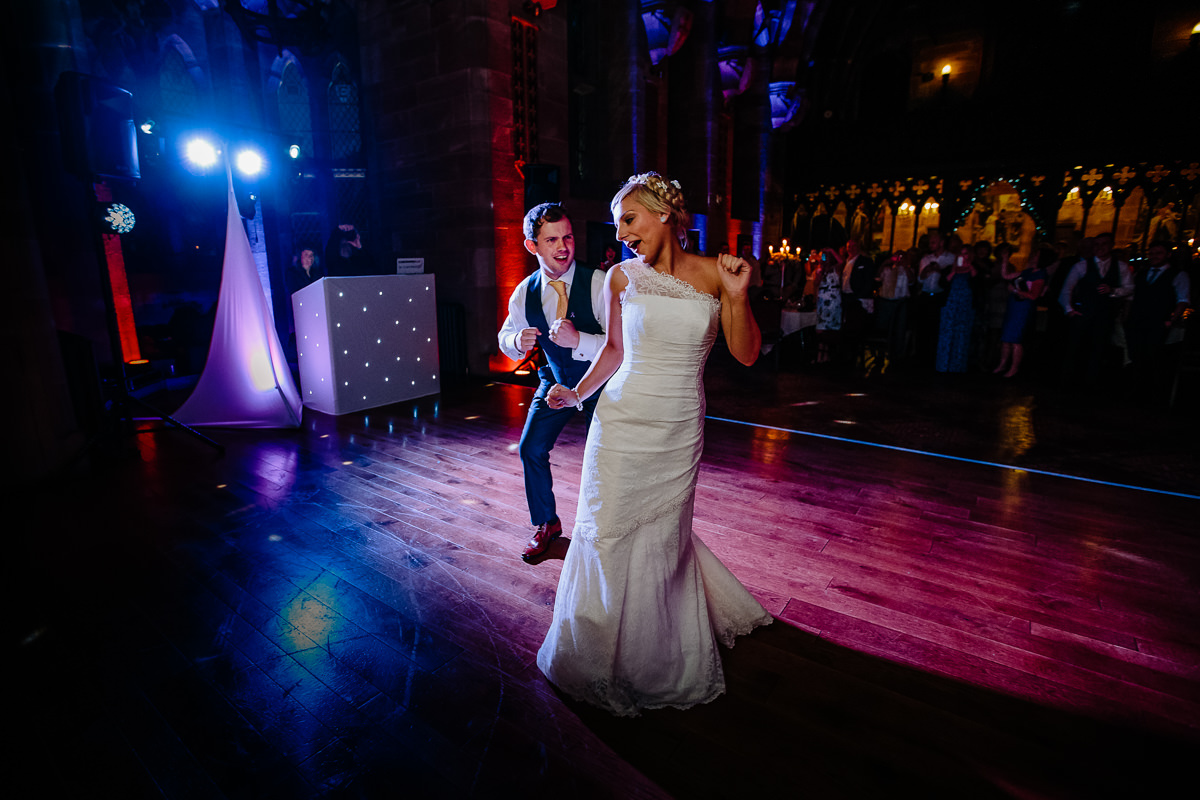 Peckforton Castle and the first dance as husband and wife