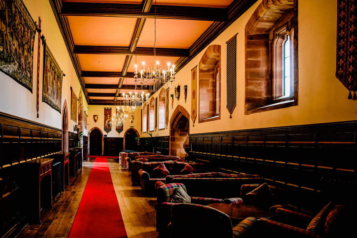 The Long Gallery at Peckforton Castle, perfect for your drinks reception