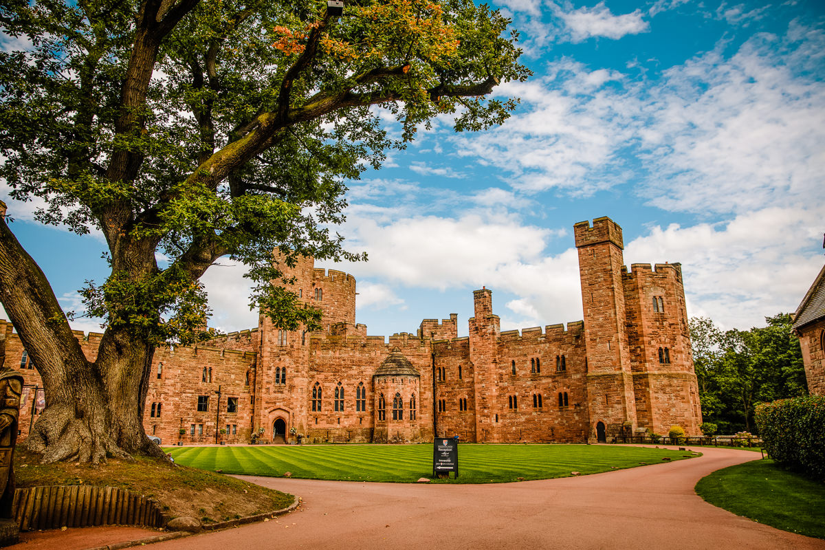 Peckforton Castle Weddings, view of the castle grounds