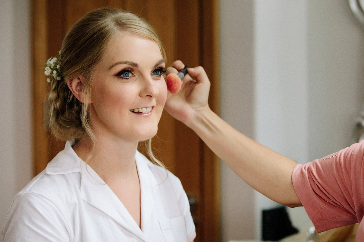 Makeup for the Bride at Heaton House Farm