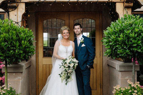 Heaton House Farm wedding with the Bride & Groom